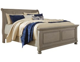 Signature Design by Ashley Queen Panel Bed in Light Gray B733B2