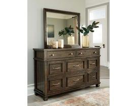 Signature Design by Ashley 8 Drawer Wood Dresser & Mirror in Grayish Brown B734