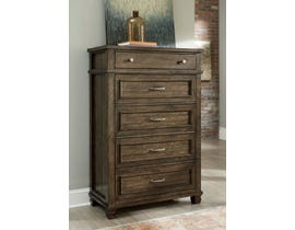 Signature Design by Ashley Wood 5 Drawer Chest in Grayish Brown B734