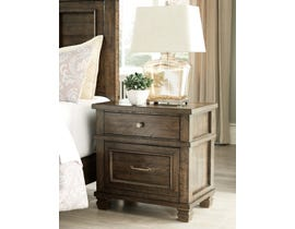 Signature Design by Ashley 2 Drawer Wood Nightstand in Grayish Brown B734B4