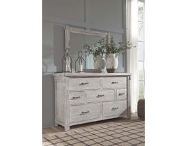 Signature Design by Ashley Dresser and Mirror in White B740B1