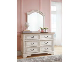 Signature Design by Ashley Dresser and Mirror in Chipped White B743B12