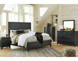 Signature Design by Ashley Noorbrook Storage Bedroom Set in Vintage Black B746