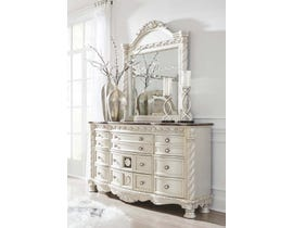 Signature Design by Ashley Dresser and Mirror in Pearl Silver B750B2
