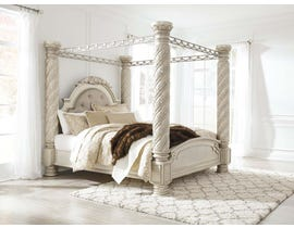 Signature Design by Ashley King Poster Bed with Canopy in Pearl Silver B750B5