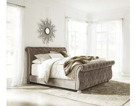 Signature Design by Ashley Cassimore Collection Upholstered Queen Bed in Gray B750