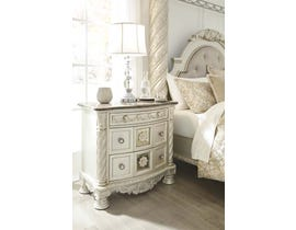 Signature Design by Ashley Nightstand in Pearl Silver B750-93