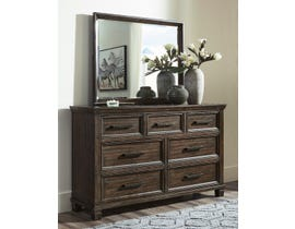 Signature Design by Ashley Johurst Dresser and Mirror in Greyish Brown B762