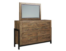 Signature Design by Ashley Dresser and Mirror in Brown B775B1