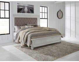 Benchcraft by Ashley Kanwyn Upholstered Panel Bed in Whitewash B777