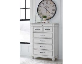 Benchcraft by Ashley Chest of Drawers in Whitewash B777-46