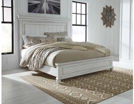Benchcraft by Ashley Kanwyn Panel Bed in Whitewash B777