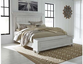 Benchcraft by Ashley Kanwyn Storage Panel Bed in Whitewash B777