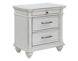Benchcraft by Ashley Nightstand in Whitewash B777-93