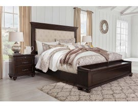 Signature Design by Ashley Brynhurst Upholstered Bed with Storage in Dark Brown B788