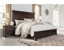 Signature Design by Ashley Brynhurst Panel Bed in Dark Brown B788