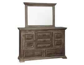 Signature Design by Ashley Dresser and Mirror in Rustic Brown B813B1