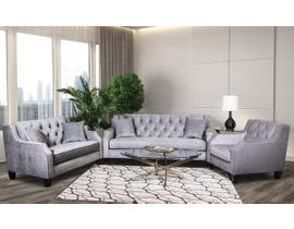 SBF Upholstery 3-piece Fabric Tufted Sofa Set in Grey 2245