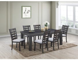 Bailey Series 7pc Dining Set in Light Grey