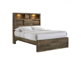 High Society Bailey Music 3pc Full Storage Bed in Walnut BY520