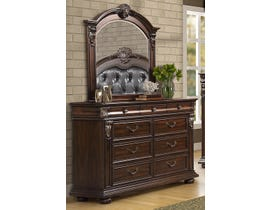 LEEFU Baltimore Series Dresser and Mirror in Warm Cherry BD941