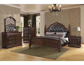 LEEFU Baltimore Series Bedroom Set in Warm Cherry BD941