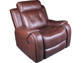 Baker Series Leather Gel Recliner in Cognac 170