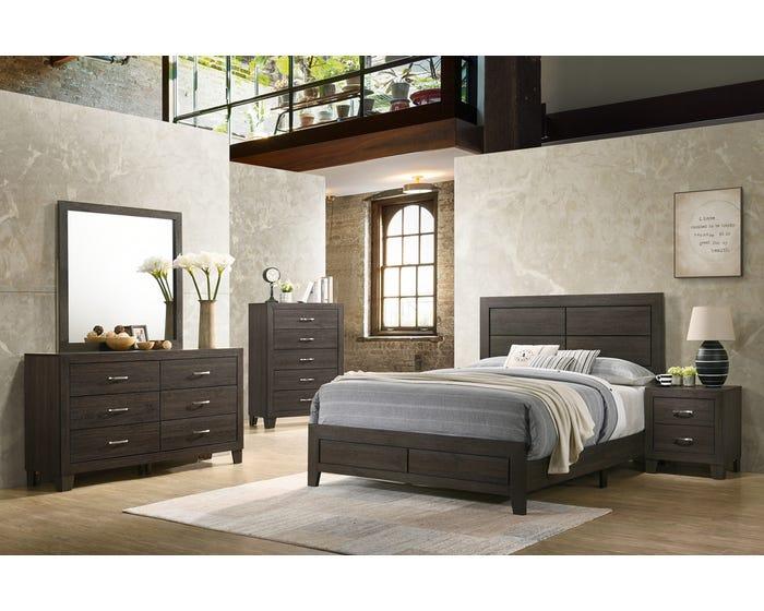 Queen Bedroom Set Veronica 90005 Dark Brown Lastman S Bad Boy