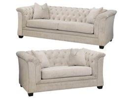 Edgewood Furniture Sofa Set 1593-38-35 in Beige