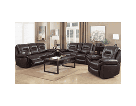High Society Belfast 3-Piece Motion Reclining Living Room set in Black Cherry UBL755