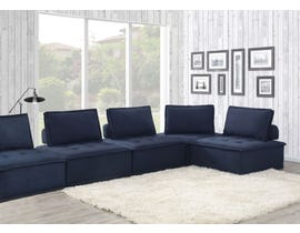 High Society Paxton Collection 5PC Armless Chairs in Navy