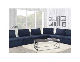 High Society Paxton Collection 6PC Armless Chairs in Navy