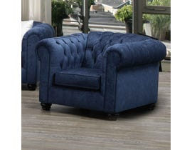 SBF Upholstery Fabric Chair in Midnight 2525
