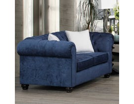 SBF Upholstery Fabric Loveseat in Midnight 2525