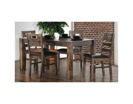 Primo International Serena Collection 5 Piece Dining Set in Greyish Brown 2525
