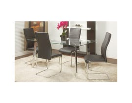 Chateau Imports 5 Piece Metal Dining Set in Grey 1610