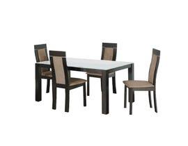 Primo International 5 Piece Dining Set in Dark Walnut 6041