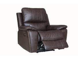Fresh Brent Series Leather Air Power Recliner in Chocolate