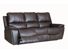Fresh Brent Series Leather Air Power Reclining Sofa in Chocolate