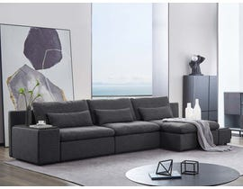 Primo International Brighton Series Sectional in Charcoal 487