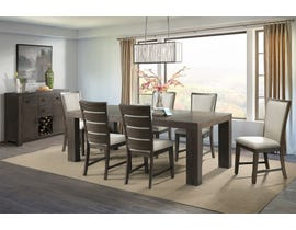 d4139fb003d High Society Grady Collection 7 Piece Wood Dining Set in Chocolate D218