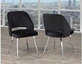 Brassex Ella Dining Chair (Set of 2) in Black C-1205-BLK