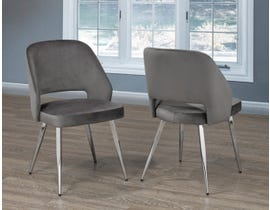 Brassex Ella Dining Chair (Set of 2) in Grey C-1205-GR