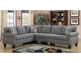 Brassex Victoria Sectional in Grey C-5351