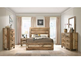 L-Style Furniture Leroy Series Bedroom Set in Antique Natural C120960A