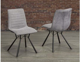 Mila Series Fabric Dining Chair in Grey (Set of 2) C2118