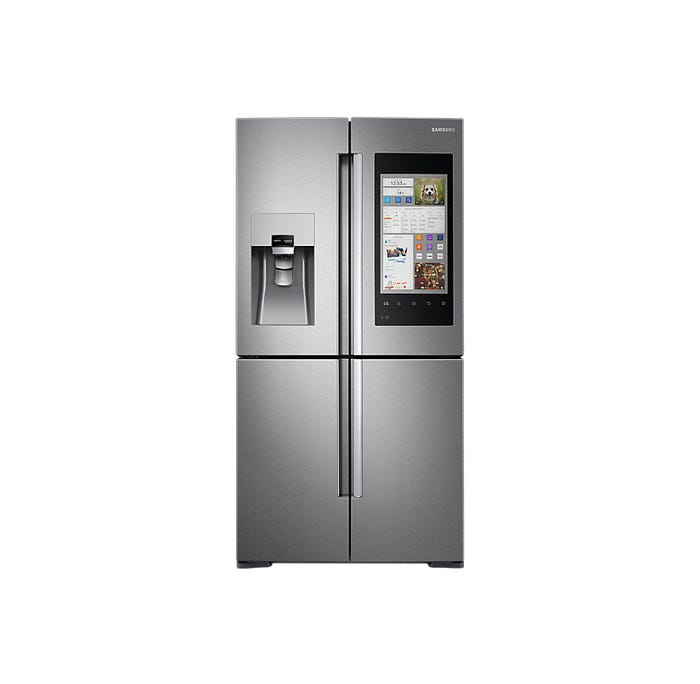 Samsung Family Hub 4-Door with Family Hub 36 Inch 22 Cu. Ft. in Stainless Steel RF22M9581SR
