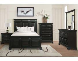 Calloway 6-Piece Wood King Bedroom Set in Black