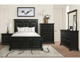 Calloway 6-Piece Wood Queen Bedroom Set in Black