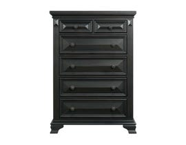 Calloway Wood Chest in Black CY600CH